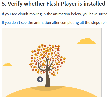 Verify Flash Player installation