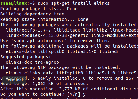 Installing elinks