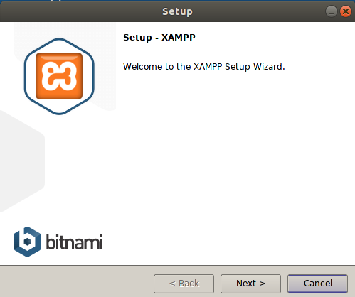 Welcome to XAMPP setup wizard