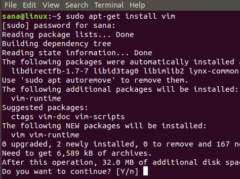 Install Vim Editor