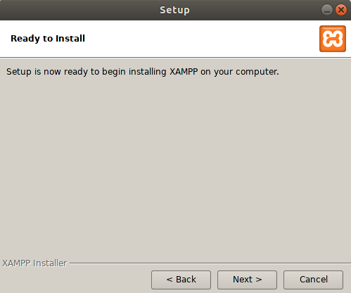 Start installation process