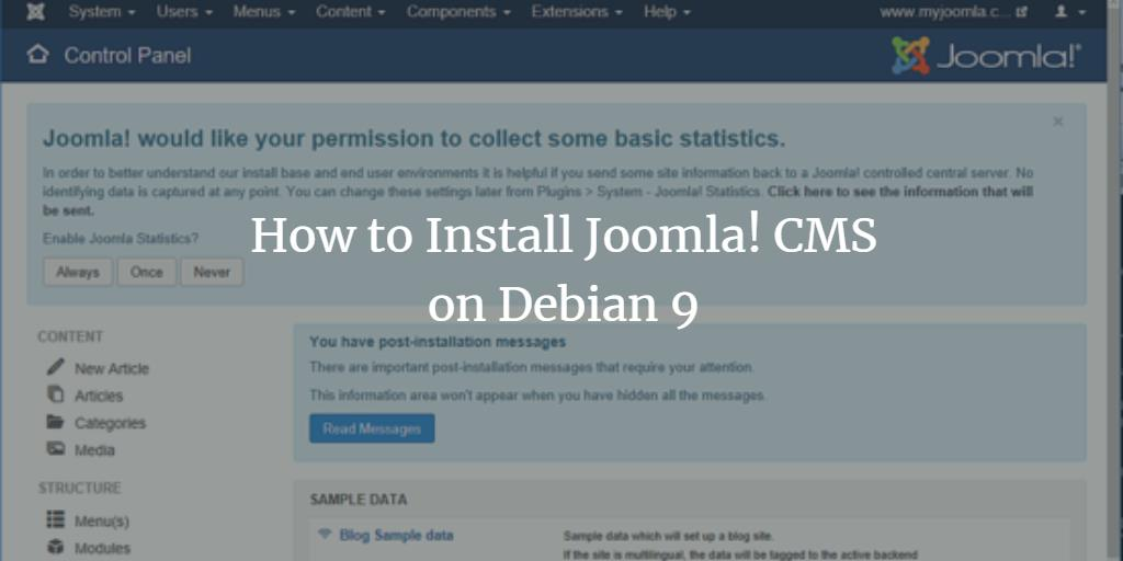 How to Install Joomla! CMS on Debian 9