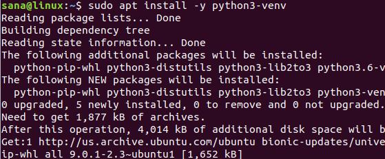 Install Python3 venv