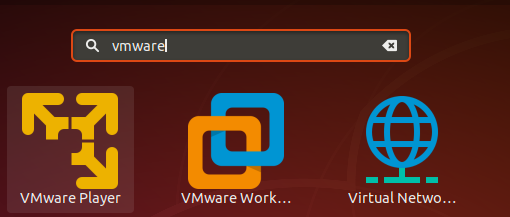 Start VMWare from Desktop