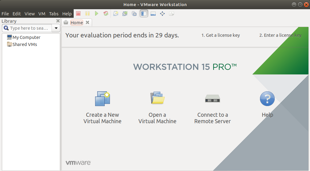 VMWare Workstation pro installed