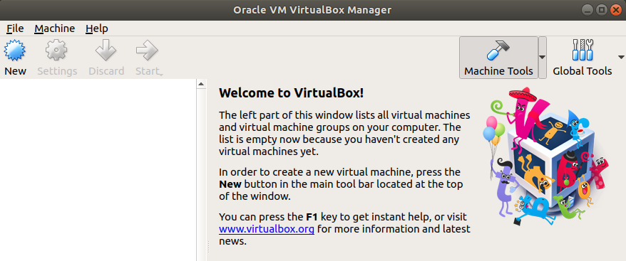 VirtualBox installed