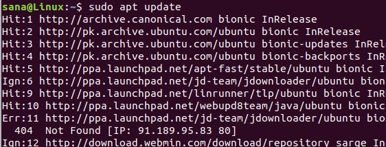 Update Ubuntu package list