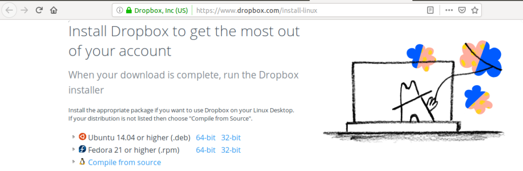 install dropbox ubuntu 18.10
