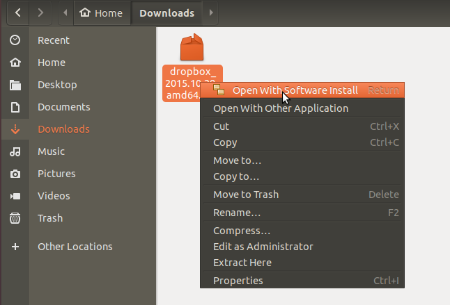 Open downloads folder