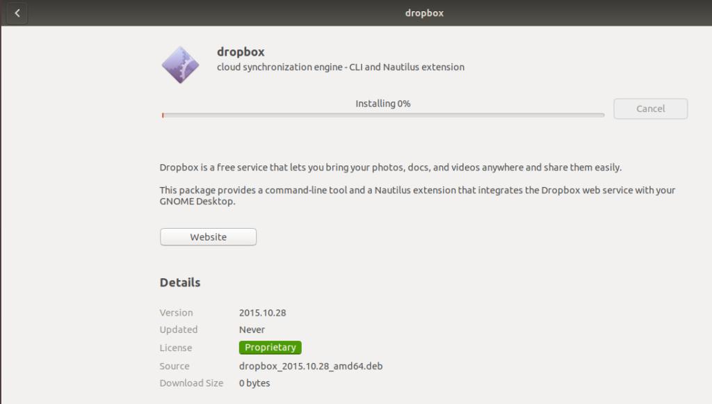 DropBox install