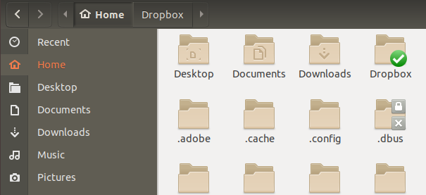 DropBox folder in home directory