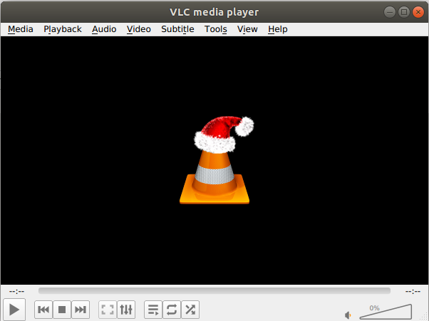 Default Theme for VLC on Ubuntu