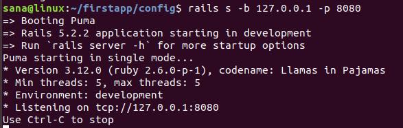 Start Rails web server