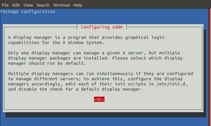 Configuring sddm