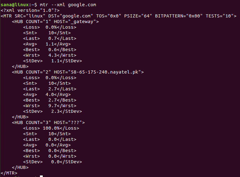 How to use the Linux mtr (My Traceroute) command
