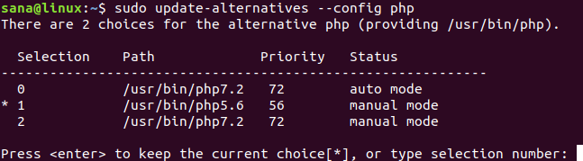 Change PHP CLI version