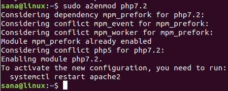Enable PHP 7.2