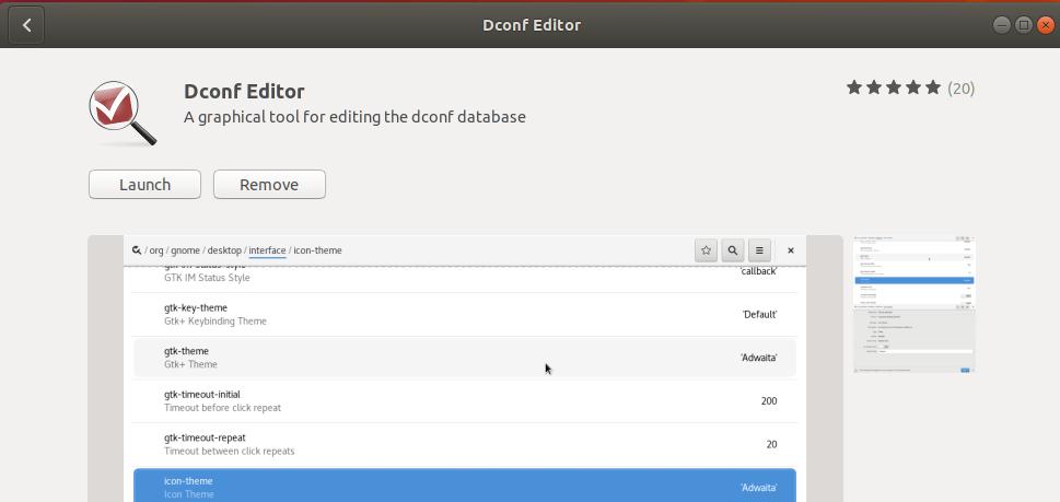Launch Dconf Editor