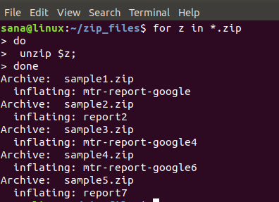 How to Simultaneously Unzip or Unrar Multiple Files in Linux