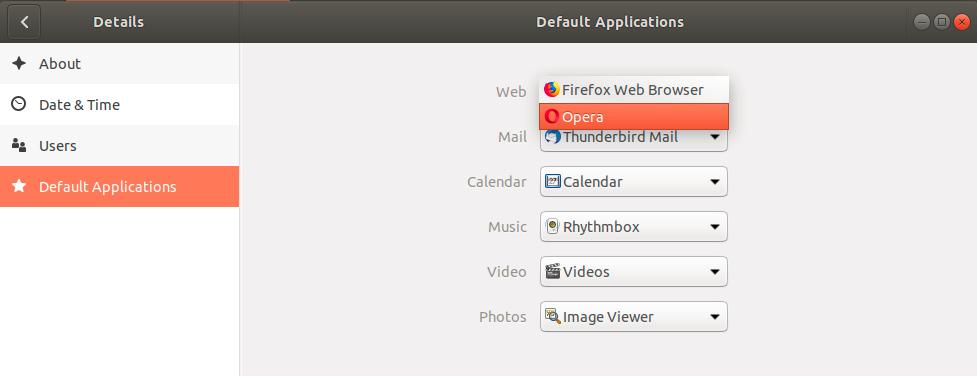 Set Your Favorite Browser as Default through Ubuntu Command Line
