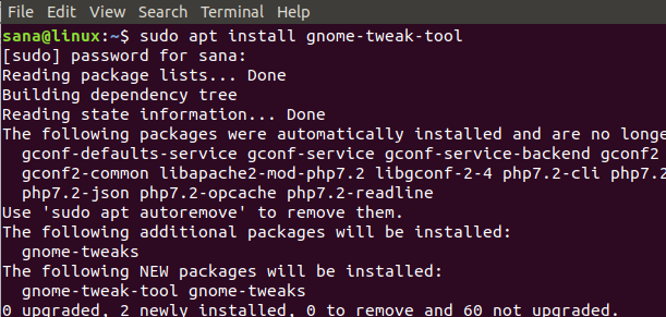 Install GNOME Tweak Tool