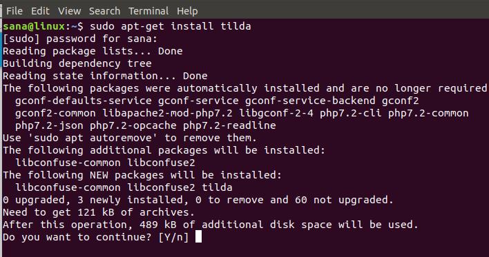 Installing Tilda