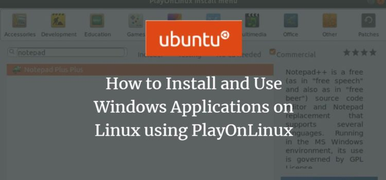 Ubuntu Windows PlayOnLinux