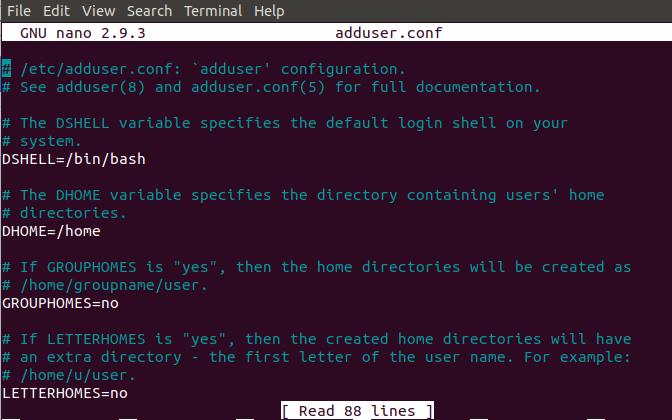 Content of /etc/adduser.conf file