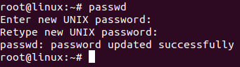 Run passwd command as root user