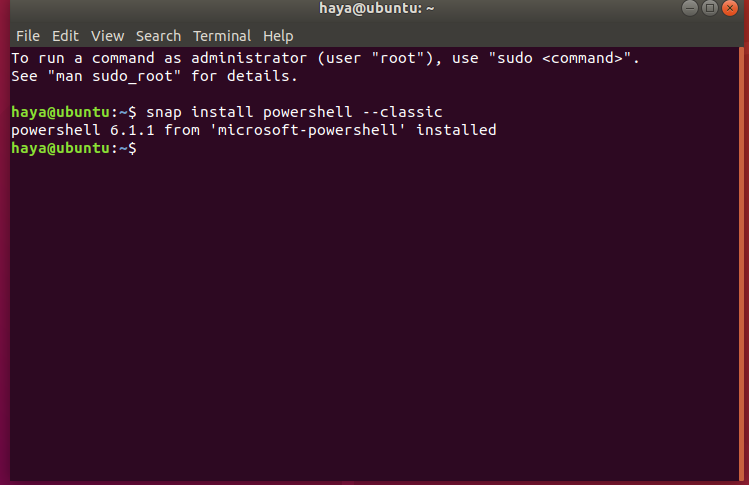 Install PowerShell snap