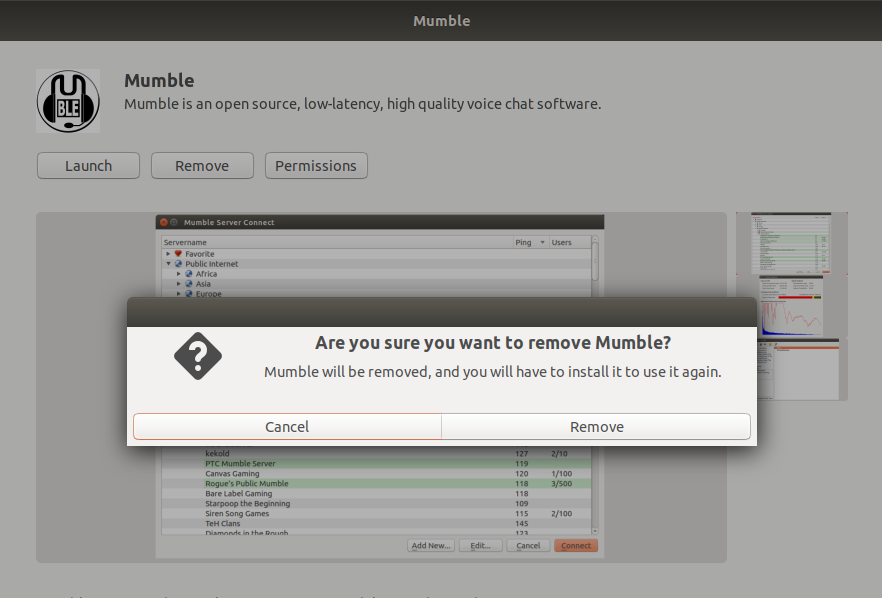 Removing Mumble