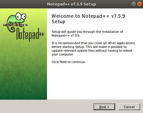 Notepad++ setup