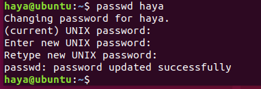Ubuntu passwd command