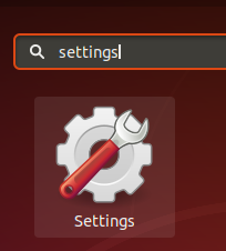 Os search for settings in Dash