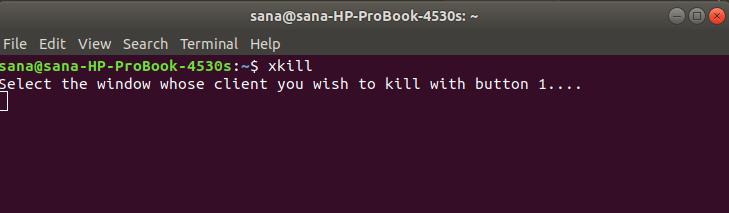 Start xkill