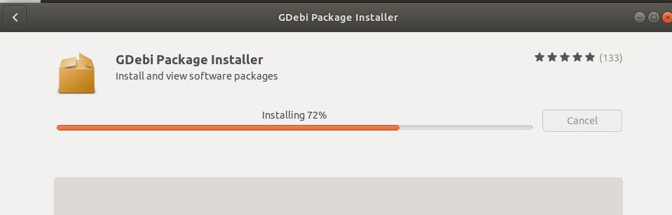 Install progress
