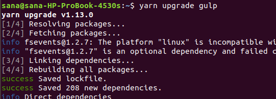 Upgrade dependency