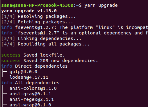 Upgrade all dependencies with Yarn