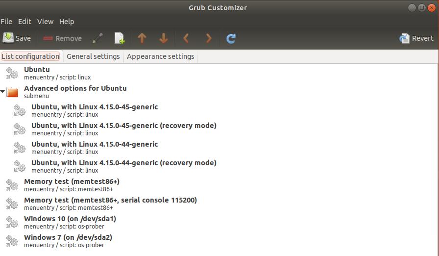 Customize Grub Configuration with Grub Customizer