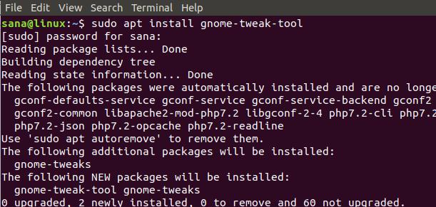 Install GNOME Tweaks Tool