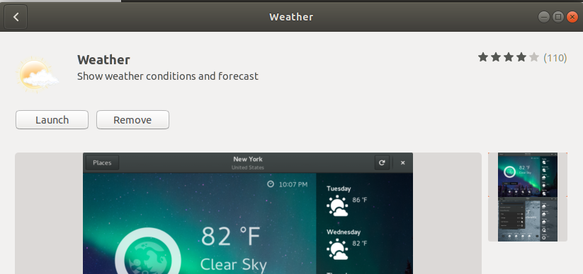 Launch GNOME Weather