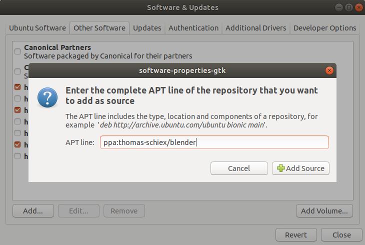 Add Ubuntu PPA in GUI