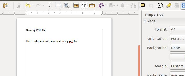 Opened PDF file