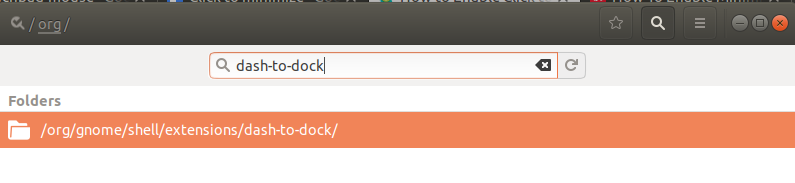 Search for dash-to-dock