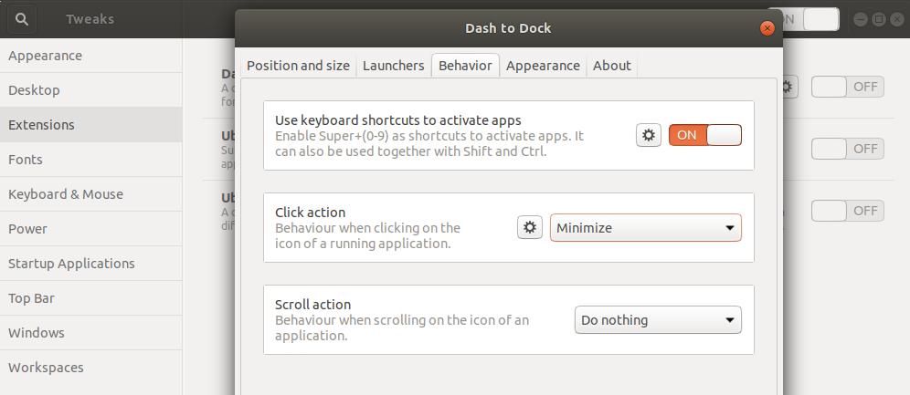 Set click action to Minimize