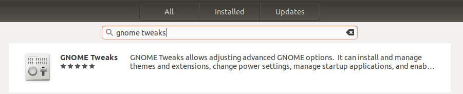 GNOME Tweaks utility