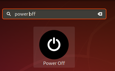 Using Power Off Application Launcher