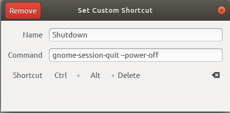 Set Custom Shortcut