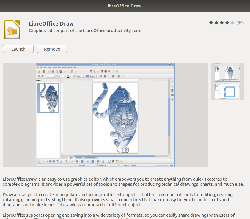 Launch LibreOffice Draw