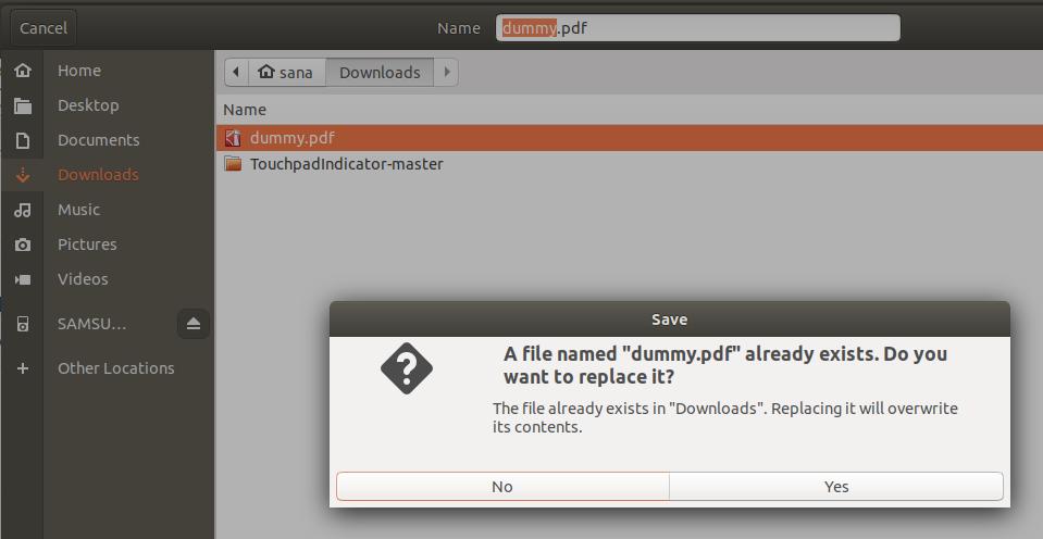 Overwrite file